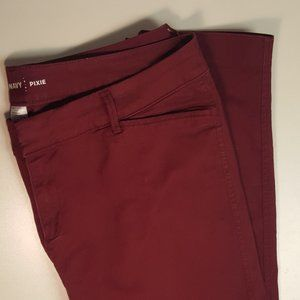 Old Navy Burgundy PIXIE Pant Red